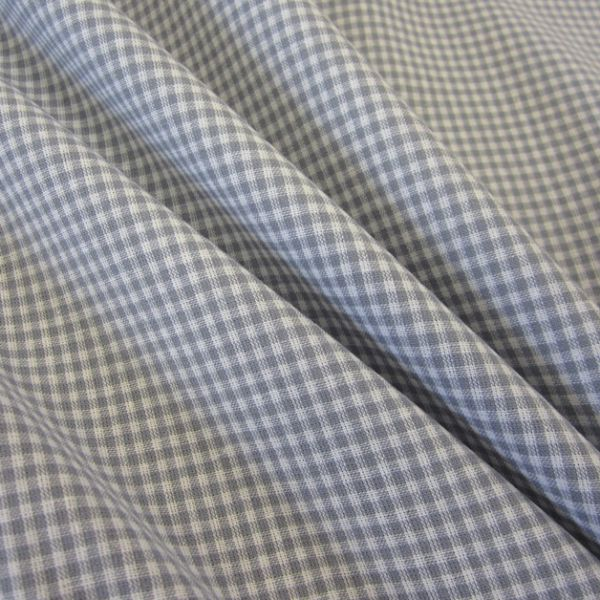 Stoff Baumwolle Vichykaro grau weiß 2 mm kariert Karo Meterware