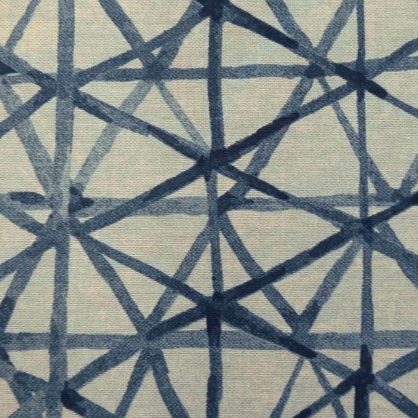 Stoff Meterware Baumwolle pflegeleicht hellblau indigo Batik Linien 0,5
