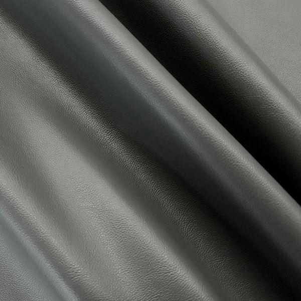 Stoff Meterware Kunstleder Nappa grau Lederimitat Bezugsstoff Möbel Taschen 0,5