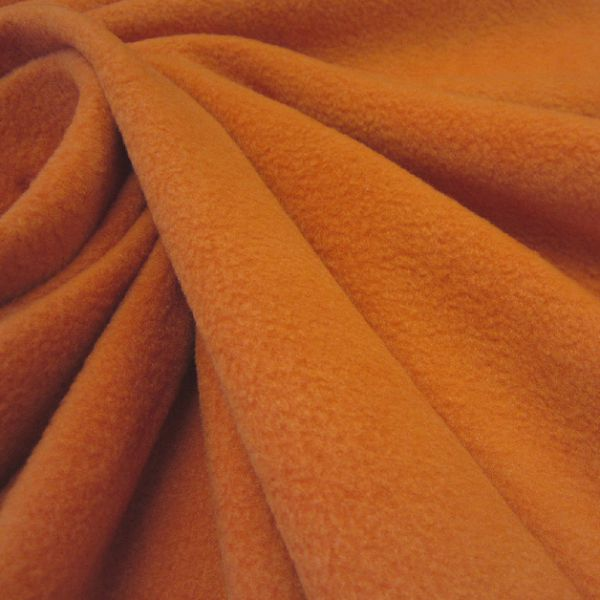 Stoff Meterware Polar Fleece orange weich warm kuschelig antipilling