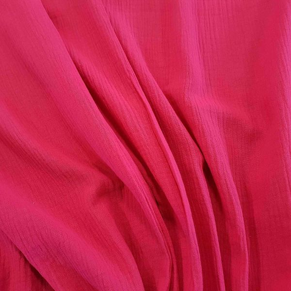 Stoff Baumwolle Musselin Mulltuch pink uni 0,5