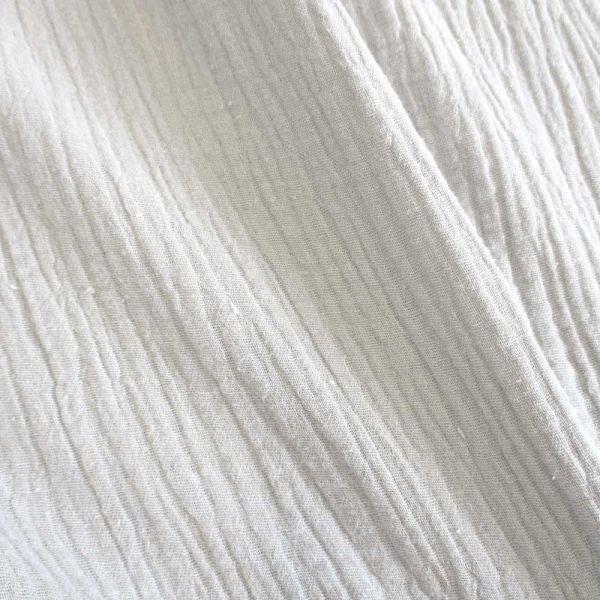 Stoff Baumwolle Musselin Mulltuch weiss uni