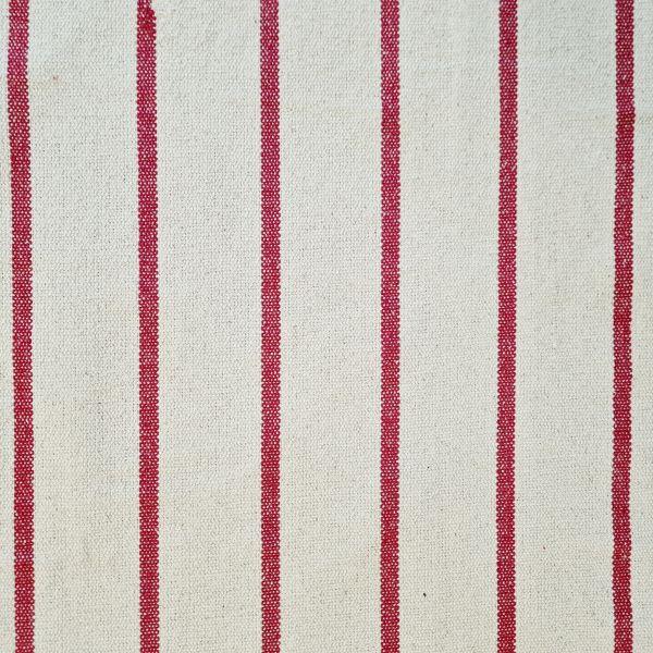 """Stoff Baumwolle """"St. Trop"""" natur Streifen rot Panama schwer Frankreich 0,5"""
