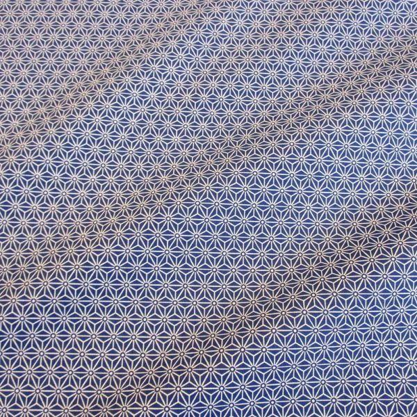 Stoff beschichtet Baumwolle Asanoha Japan indigo dunkelblau 0,5