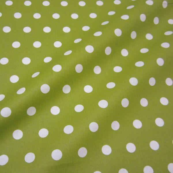 Stoff beschichtet Punkte PASTILLE maigrün weiß Regenjacke Tischdecke mittelgrün