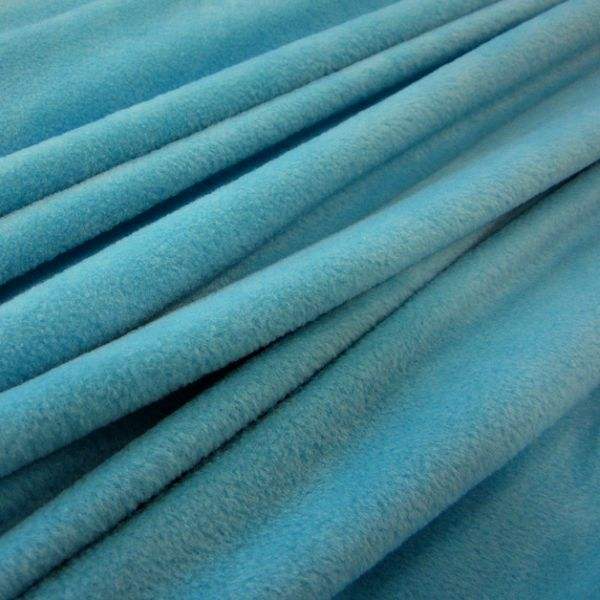 Stoff Meterware Polar Fleece aqua pool weich warm kuschelig antipilling