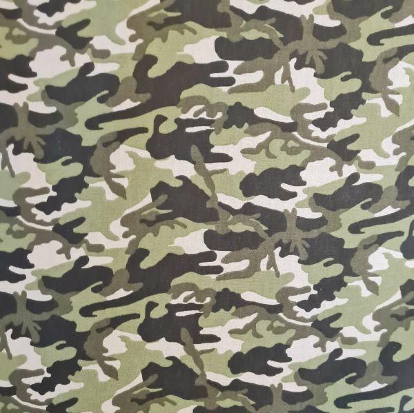 """Stoff Meterware Baumwolle Camouflage Tarndruck grün """"Tobi"""" 0,5"""