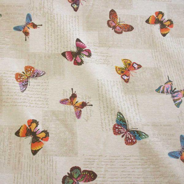 Stoff pflegeleicht Schmetterlinge Handschrift natur Impressionen