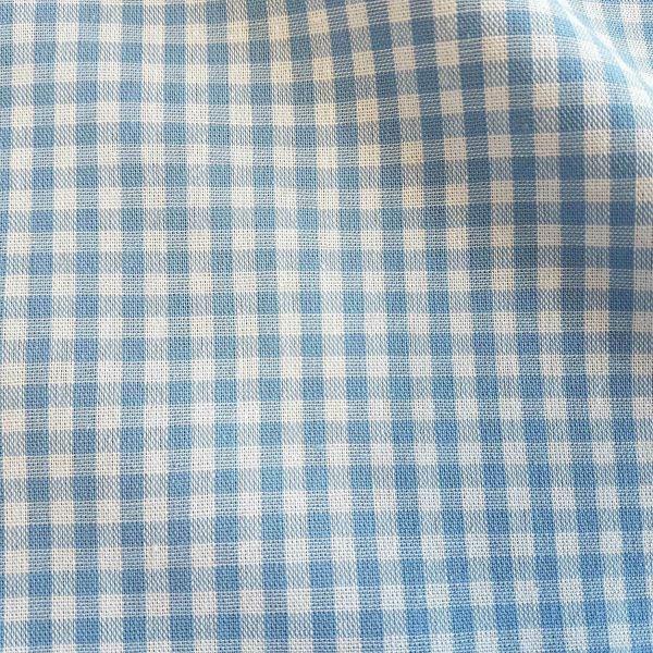 Stoff Baumwolle Vichykaro hellblau weiß 4 mm kariert Karo Meterware 0,5