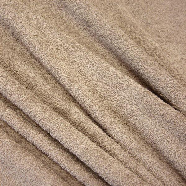 Stoff Meterware Baumwolle Frotté Frottee beige helltaupe weich stabil