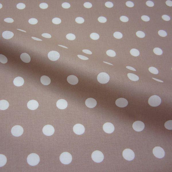 Stoff beschichtet Punkte PASTILLE beige weiß Regenjacke Tischdecke