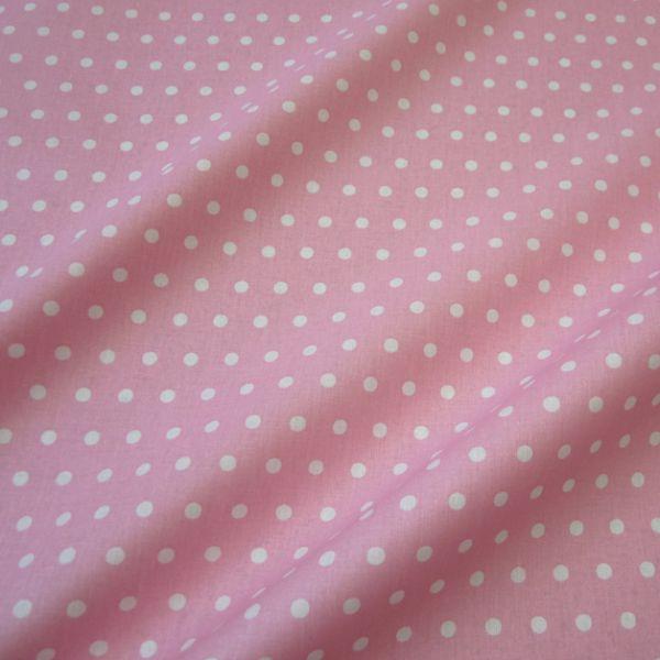 Stoff beschichtet Punkte PEAS rosa weiß Regenjacke Tischdecke