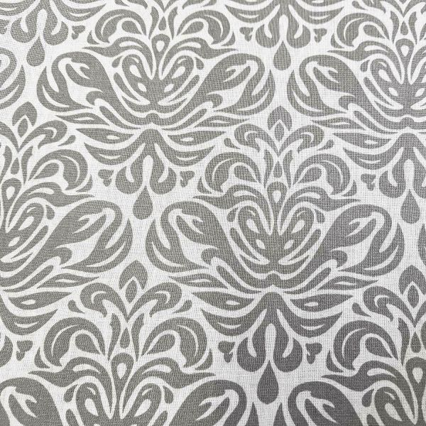 Stoff Baumwolle Ornamente grau ecru aus Frankreich Trulli 0,5
