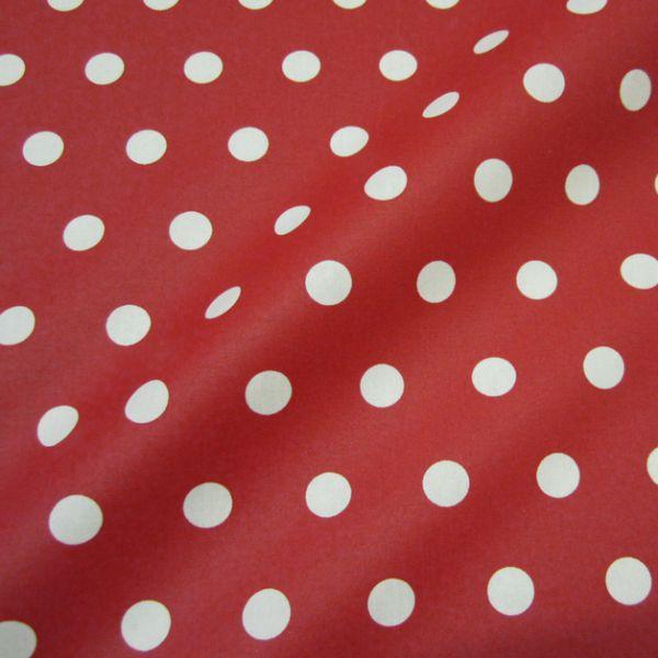 Stoff beschichtet Punkte PASTILLE rot weiß Fliegenpilz Regenjacke Tischdecke
