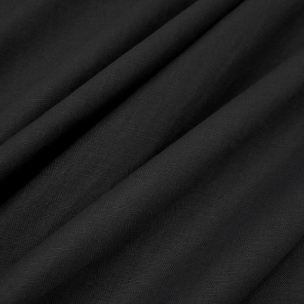 Stoff Meterware reines Leinen schwarz leicht weich Preisknaller