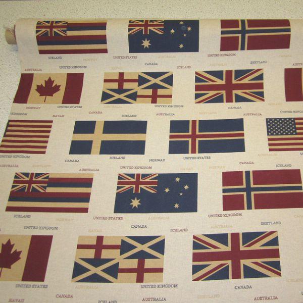 Stoff Flaggen Fahne England USA Norwegen Kanada