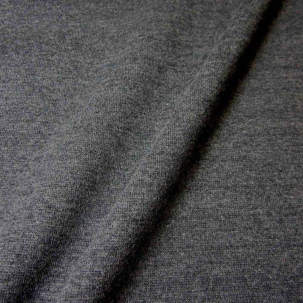 Bündchenstoff Jersey Schlauchware anthrazit grau 59cm breit Bündchen 0,5
