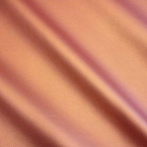 Meterware Kunstleder Nappa kupfer Möbelbezug Taschen 0,5