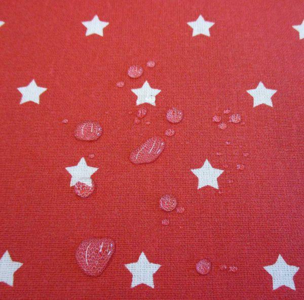 Stoff beschichtet Sterne rot weiß Wachstuch Tischdecke-