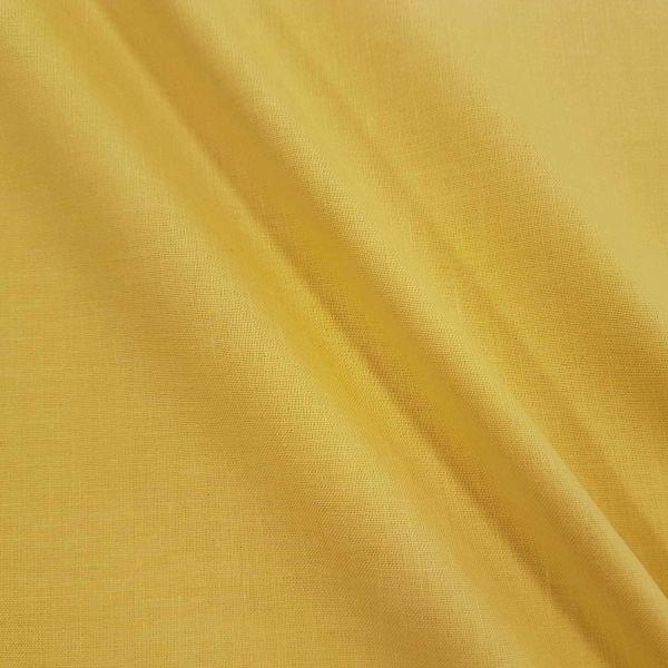 Stoff Baumwolle Fahnentuch gelb uni 0,5
