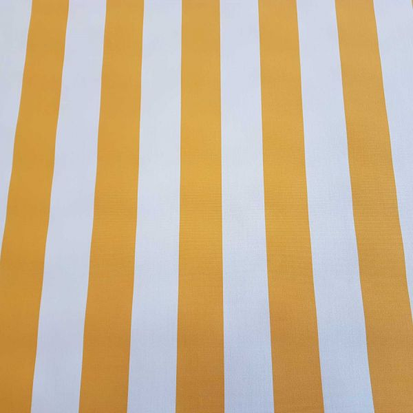 Meterware Markisenstoff gelb weiß gestreift Streifen Sonnensegel Sichtschutz 0,5
