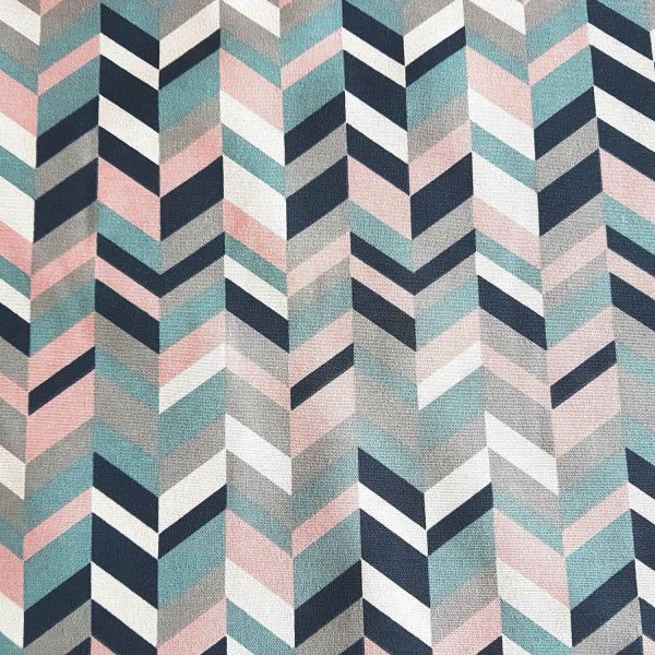 Stoff Baumwolle Meterware rosa weiss dunkelblau grau mint weiss Grafik retro