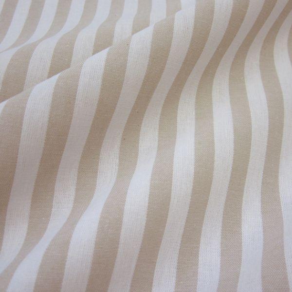 Stoff Baumwolle beige weiß Streifen 1cm gestreift durchgewebt