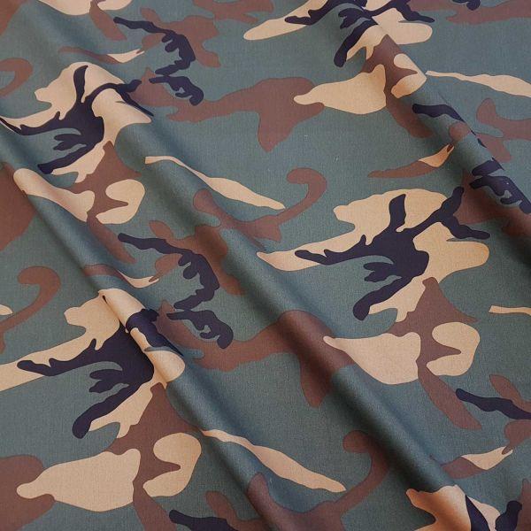 Stoff Meterware Köper Camouflage Tarndruck Baumwollstoff grün braun schwarz