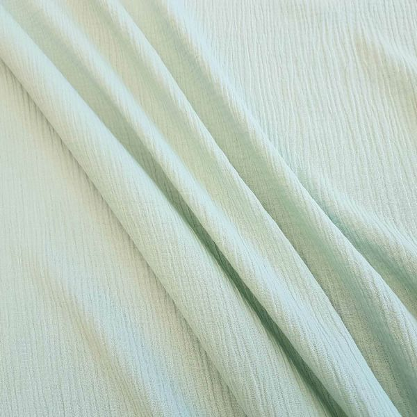 Stoff Baumwolle Musselin Mulltuch hellmint uni pastell 0,5