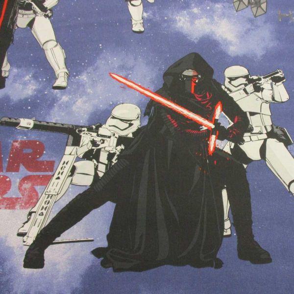 """Stoff Baumwolle Star Wars """"Smoke"""" Kylo Ren Klonkrieger blau weiß rot"""