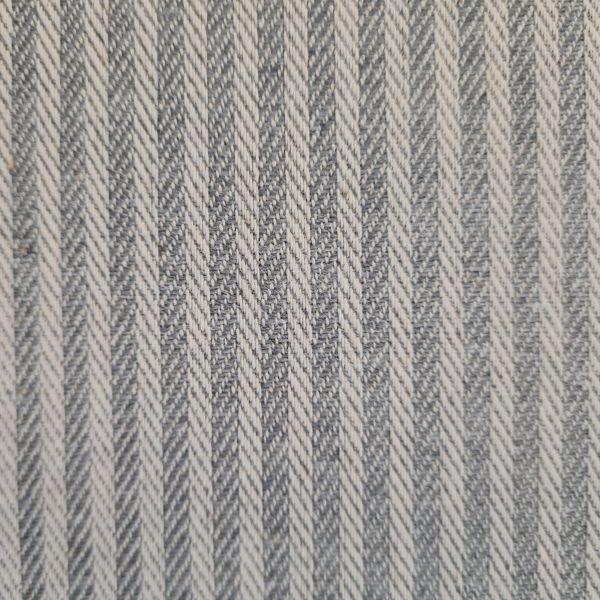 """Stoff Baumwolle pflegeleicht """"Dobby"""" Streifen grau natur durchgewebt Fischgrat 0,5"""