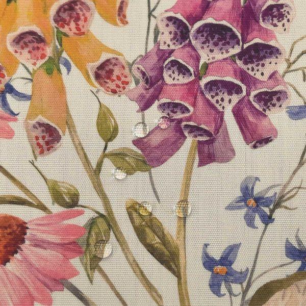 """Stoff Outdoorstoff Dralon bunt Wiesenblumen """"England"""" wasserabweisend lichtecht 0,5"""