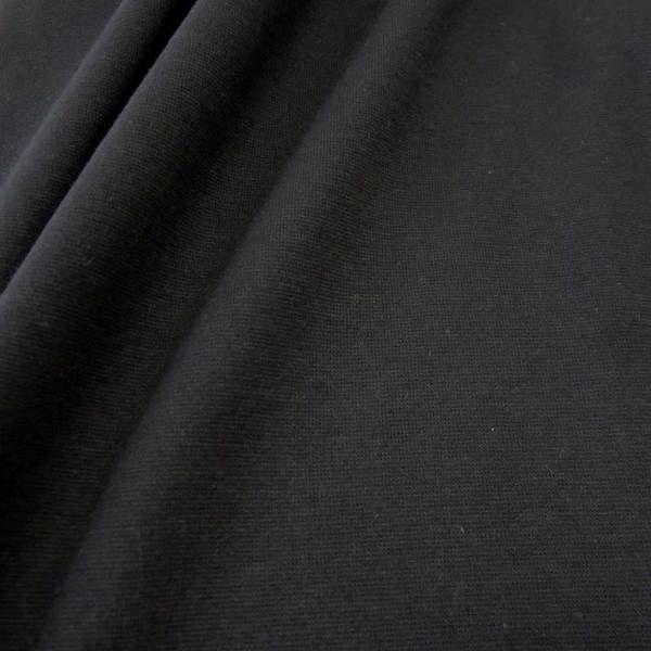 Bündchenstoff Jersey Schlauchware schwarz Ökotex100