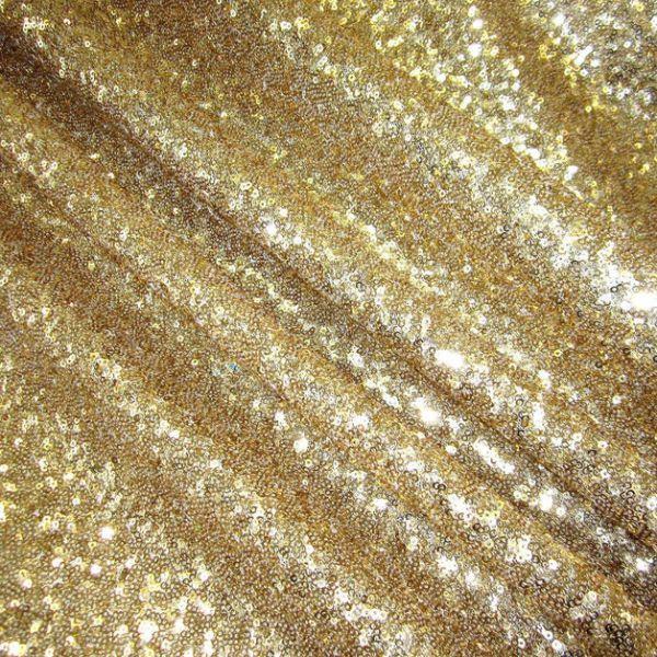 Stoff Meterware Pailletten gold Glitzer Glanz edel hochwertig