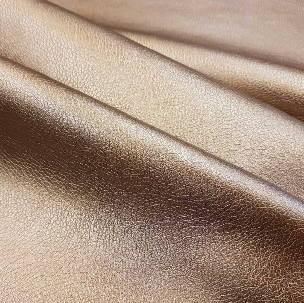 Meterware Kunstleder Nappa bronze Möbelbezug Taschen 0,5