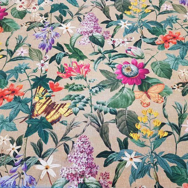 Stoff Meterware Baumwolle Digitaldruck Amazonia Blumen Blüten