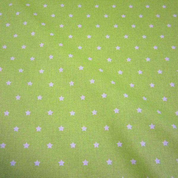 Stoff beschichtet Sterne hellgrün weiß Wachstuch Tischdecke