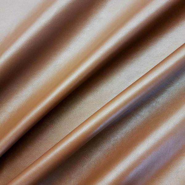Stoff Meterware Kunstleder Nappa cognac mittelbraun Lederimitat Bezugsstoff Möbel Taschen 0,5