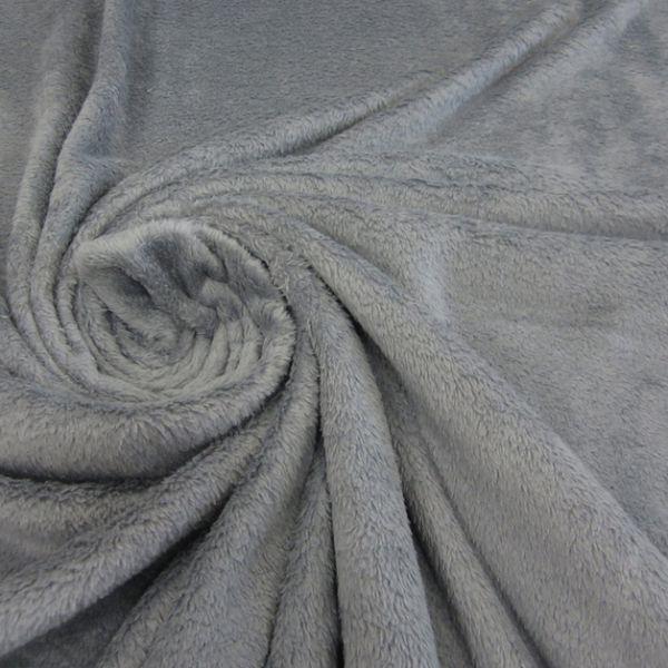 Stoff Softplüsch Wellnessfleece grau