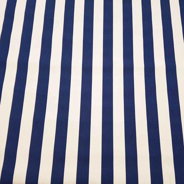 Kurzstück Meterware Markisenstoff blau weiß gestreift Streifen Sonnensegel Sichtschutz 0,65m x 1,40m