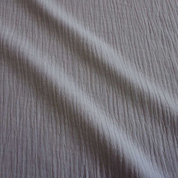 Stoff Baumwolle Musselin Mulltuch mittelgrau uni