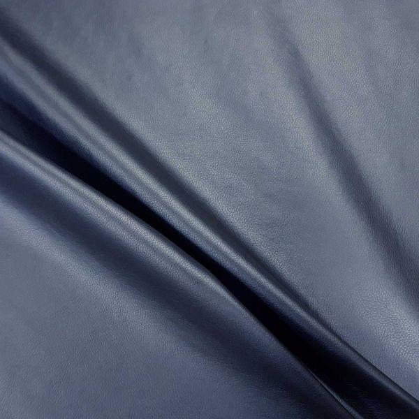 Meterware Kunstleder Nappa dunkelblau metallic Möbelbezug Taschen 0,5