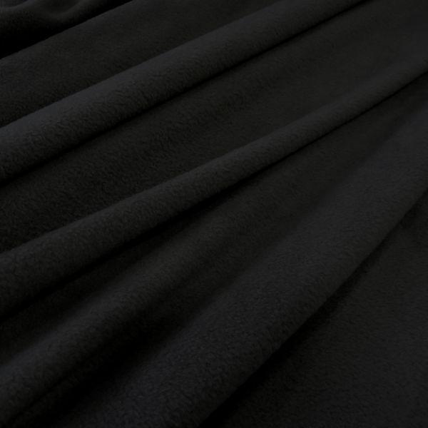 Stoff Meterware Polar Fleece schwarz weich warm kuschelig antipilling