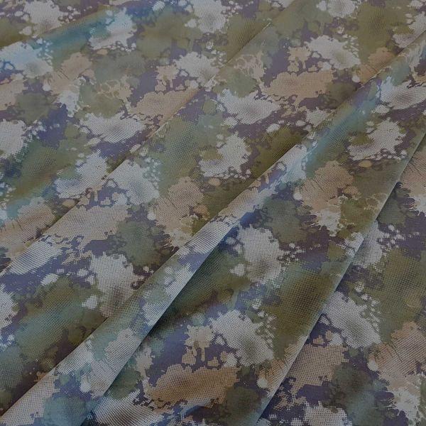Stoff Jersey Baumwolle Camouflage Tarndruck Army olive grau 0,5