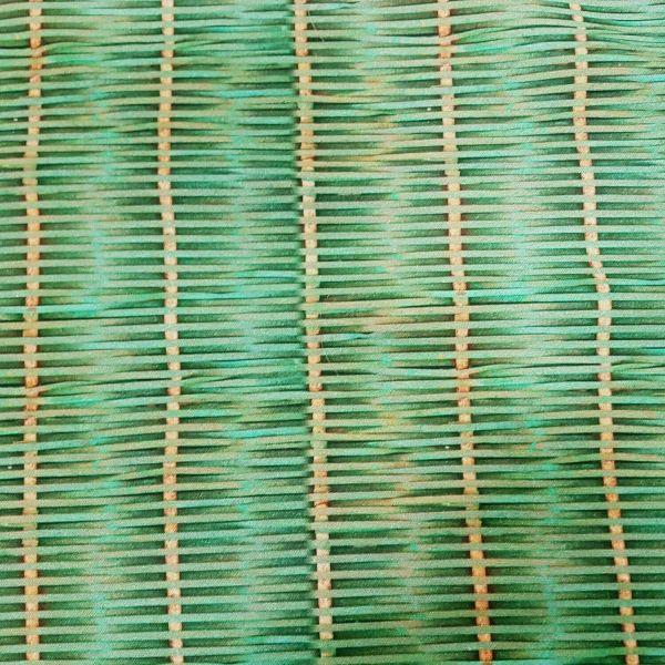 Stoff Meterware Baumwolle Digitaldruck Rattan Rattangeflecht grün