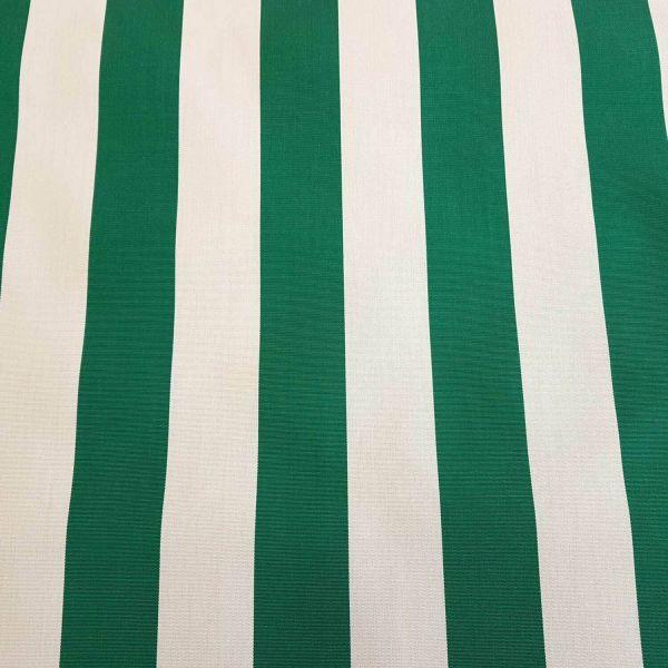 Meterware Markisenstoff grün weiß gestreift Streifen Sonnensegel Sichtschutz 0,5