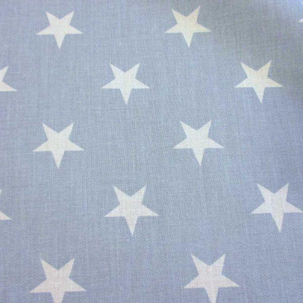 Stoff Baumwollstoff Sterne groß wolkenblau hellblau weiß pastell