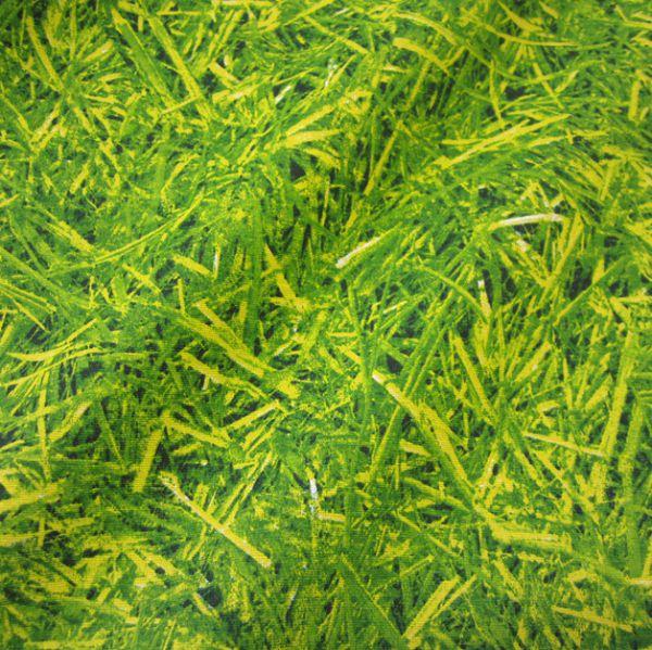 Stoff Baumwolle grün Gras Rasen Fotodruck Wiese