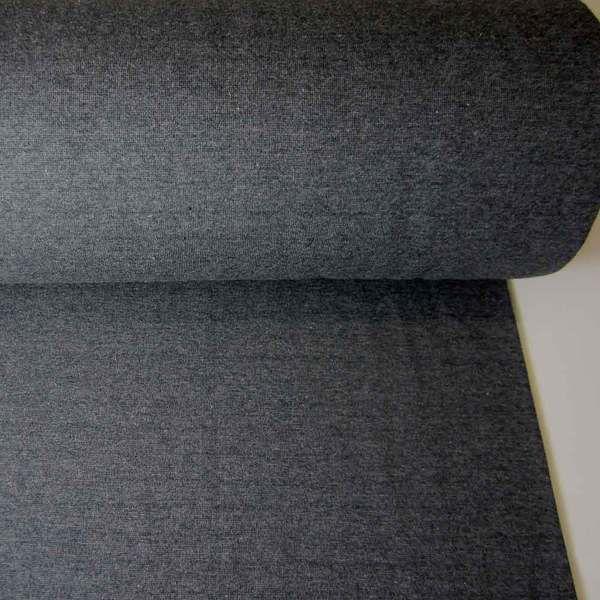 Bündchenstoff Jersey Schlauchware anthrazit grau Bündchen 0,5