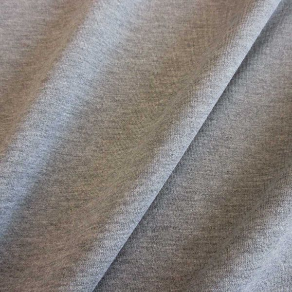 Stoff Baumwolle Sweatshirt French Terry grau meliert